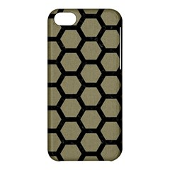 Hexagon2 Black Marble & Khaki Fabric Apple Iphone 5c Hardshell Case by trendistuff