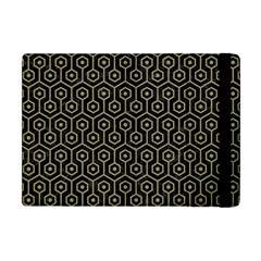 Hexagon1 Black Marble & Khaki Fabric (r) Apple Ipad Mini Flip Case