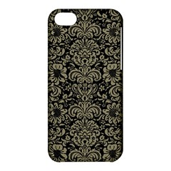 Damask2 Black Marble & Khaki Fabric (r) Apple Iphone 5c Hardshell Case by trendistuff