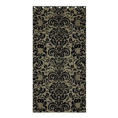 Damask2 Black Marble & Khaki Fabric Shower Curtain 36  X 72  (stall)  by trendistuff