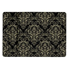 Damask1 Black Marble & Khaki Fabric (r) Samsung Galaxy Tab 10 1  P7500 Flip Case by trendistuff