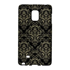 Damask1 Black Marble & Khaki Fabric (r) Galaxy Note Edge