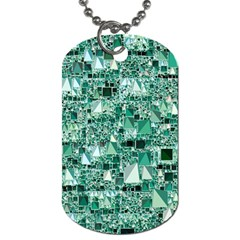 Modern Geo Fun, Teal Dog Tag (two Sides) by MoreColorsinLife