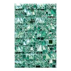 Modern Geo Fun, Teal Shower Curtain 48  X 72  (small)