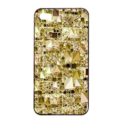 Modern Geo Fun,golden Apple Iphone 4/4s Seamless Case (black) by MoreColorsinLife
