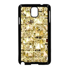 Modern Geo Fun,golden Samsung Galaxy Note 3 Neo Hardshell Case (black) by MoreColorsinLife