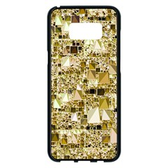 Modern Geo Fun,golden Samsung Galaxy S8 Plus Black Seamless Case by MoreColorsinLife