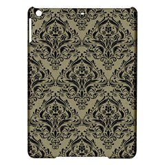 Damask1 Black Marble & Khaki Fabric Ipad Air Hardshell Cases by trendistuff