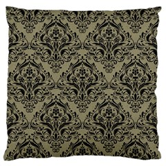 Damask1 Black Marble & Khaki Fabric Standard Flano Cushion Case (one Side) by trendistuff
