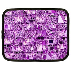 Modern Geo Fun,lilac Netbook Case (xxl)  by MoreColorsinLife
