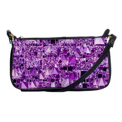Modern Geo Fun,lilac Shoulder Clutch Bags by MoreColorsinLife