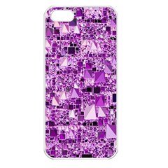 Modern Geo Fun,lilac Apple Iphone 5 Seamless Case (white) by MoreColorsinLife