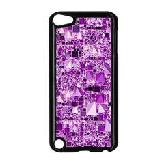 Modern Geo Fun,lilac Apple Ipod Touch 5 Case (black) by MoreColorsinLife