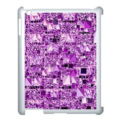 Modern Geo Fun,lilac Apple Ipad 3/4 Case (white) by MoreColorsinLife