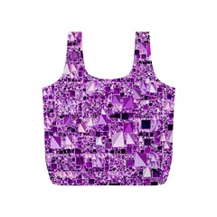 Modern Geo Fun,lilac Full Print Recycle Bags (s)  by MoreColorsinLife