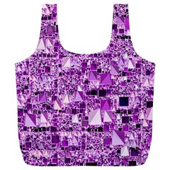 Modern Geo Fun,lilac Full Print Recycle Bags (l)  by MoreColorsinLife