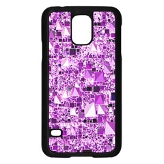 Modern Geo Fun,lilac Samsung Galaxy S5 Case (black) by MoreColorsinLife