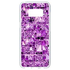 Modern Geo Fun,lilac Samsung Galaxy S8 White Seamless Case by MoreColorsinLife