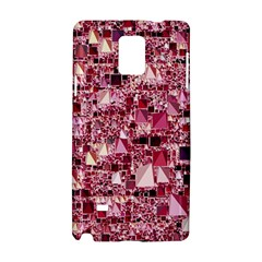 Modern Geo Fun,pink Samsung Galaxy Note 4 Hardshell Case by MoreColorsinLife