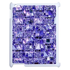Modern Geo Fun, Blue Apple Ipad 2 Case (white) by MoreColorsinLife