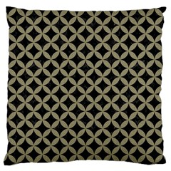 Circles3 Black Marble & Khaki Fabric (r) Large Cushion Case (two Sides) by trendistuff