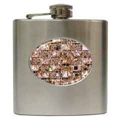 Modern Geo Fun, Bright Hip Flask (6 Oz) by MoreColorsinLife