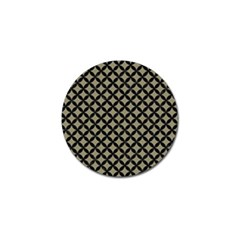 Circles3 Black Marble & Khaki Fabric Golf Ball Marker (4 Pack) by trendistuff