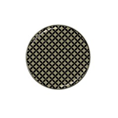 Circles3 Black Marble & Khaki Fabric Hat Clip Ball Marker (4 Pack) by trendistuff