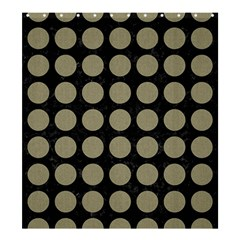 Circles1 Black Marble & Khaki Fabric (r) Shower Curtain 66  X 72  (large)  by trendistuff
