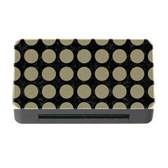 Circles1 Black Marble & Khaki Fabric (r) Memory Card Reader With Cf by trendistuff