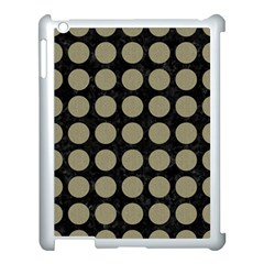 Circles1 Black Marble & Khaki Fabric (r) Apple Ipad 3/4 Case (white) by trendistuff