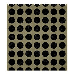 Circles1 Black Marble & Khaki Fabric Shower Curtain 66  X 72  (large)  by trendistuff