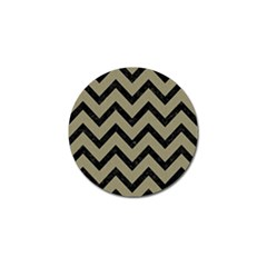 Chevron9 Black Marble & Khaki Fabric Golf Ball Marker (10 Pack) by trendistuff