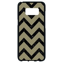 Chevron9 Black Marble & Khaki Fabric Samsung Galaxy S8 Black Seamless Case
