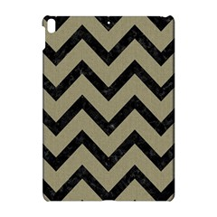 Chevron9 Black Marble & Khaki Fabric Apple Ipad Pro 10 5   Hardshell Case by trendistuff