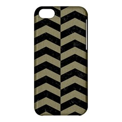 Chevron2 Black Marble & Khaki Fabric Apple Iphone 5c Hardshell Case by trendistuff