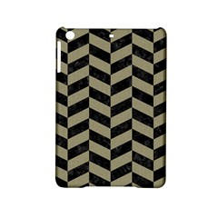 Chevron1 Black Marble & Khaki Fabric Ipad Mini 2 Hardshell Cases by trendistuff