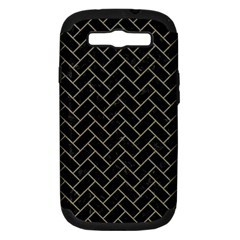 Brick2 Black Marble & Khaki Fabric (r) Samsung Galaxy S Iii Hardshell Case (pc+silicone) by trendistuff