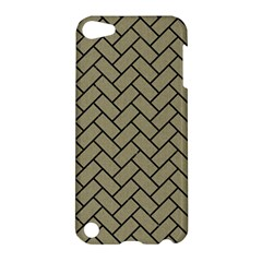 Brick2 Black Marble & Khaki Fabric Apple Ipod Touch 5 Hardshell Case by trendistuff