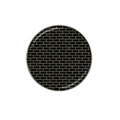 Brick1 Black Marble & Khaki Fabric (r) Hat Clip Ball Marker (4 Pack) by trendistuff
