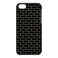 Brick1 Black Marble & Khaki Fabric (r) Apple Iphone 5c Hardshell Case by trendistuff
