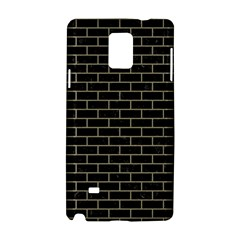 Brick1 Black Marble & Khaki Fabric (r) Samsung Galaxy Note 4 Hardshell Case by trendistuff