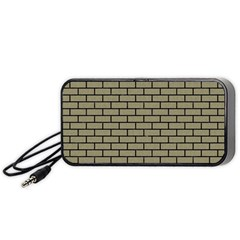 Brick1 Black Marble & Khaki Fabric Portable Speaker by trendistuff