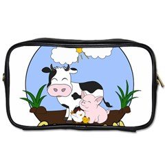 Friends Not Food   Cute Pig And Chicken Toiletries Bags