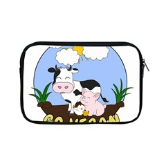 Friends Not Food   Cute Pig And Chicken Apple Ipad Mini Zipper Cases by Valentinaart