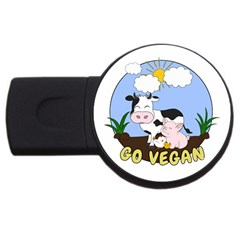 Friends Not Food   Cute Pig And Chicken Usb Flash Drive Round (4 Gb)