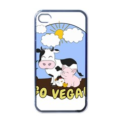 Friends Not Food   Cute Pig And Chicken Apple Iphone 4 Case (black) by Valentinaart