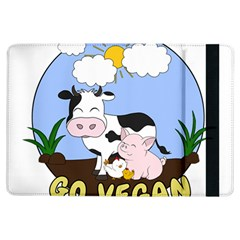 Friends Not Food   Cute Pig And Chicken Ipad Air Flip by Valentinaart
