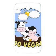Friends Not Food   Cute Pig And Chicken Samsung Galaxy Mega I9200 Hardshell Back Case by Valentinaart