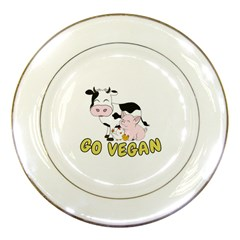 Friends Not Food   Cute Pig And Chicken Porcelain Plates by Valentinaart